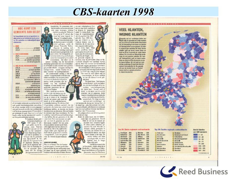 CBS-kaarten 1998