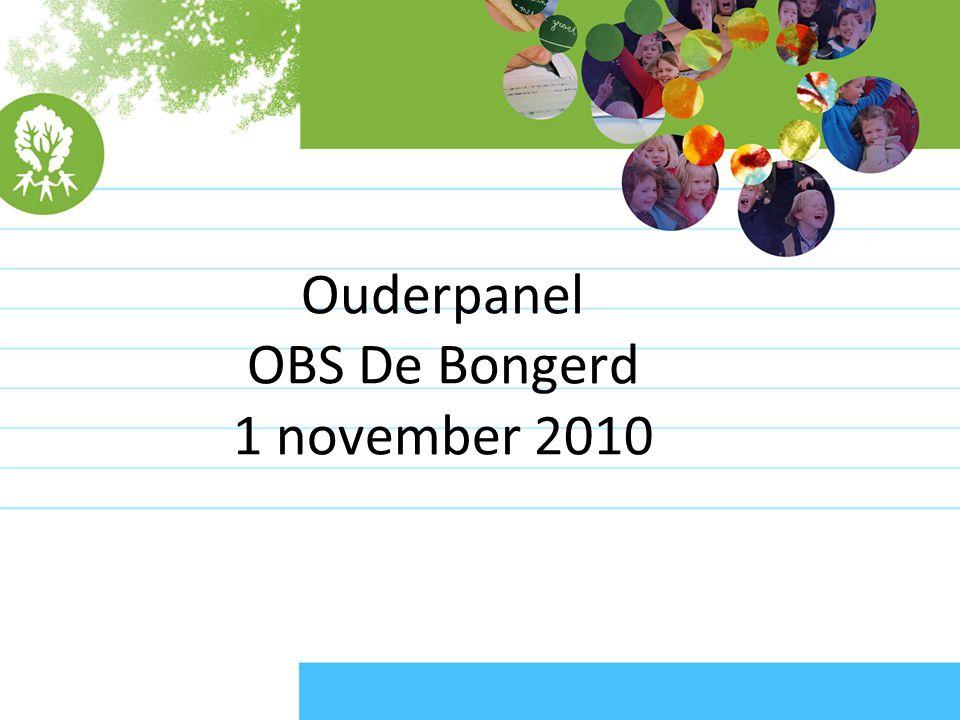 Ouderpanel OBS De Bongerd 1 november 2010