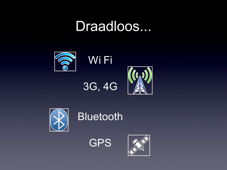 Draadloos... Wi Fi 3G, 4G Bluetooth GPS