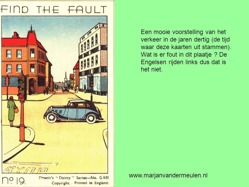 Een mooie voorstelling van het verkeer in de jaren dertig (de tijd waar deze kaarten uit stammen).