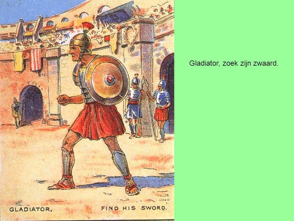 Gladiator, zoek zijn zwaard.