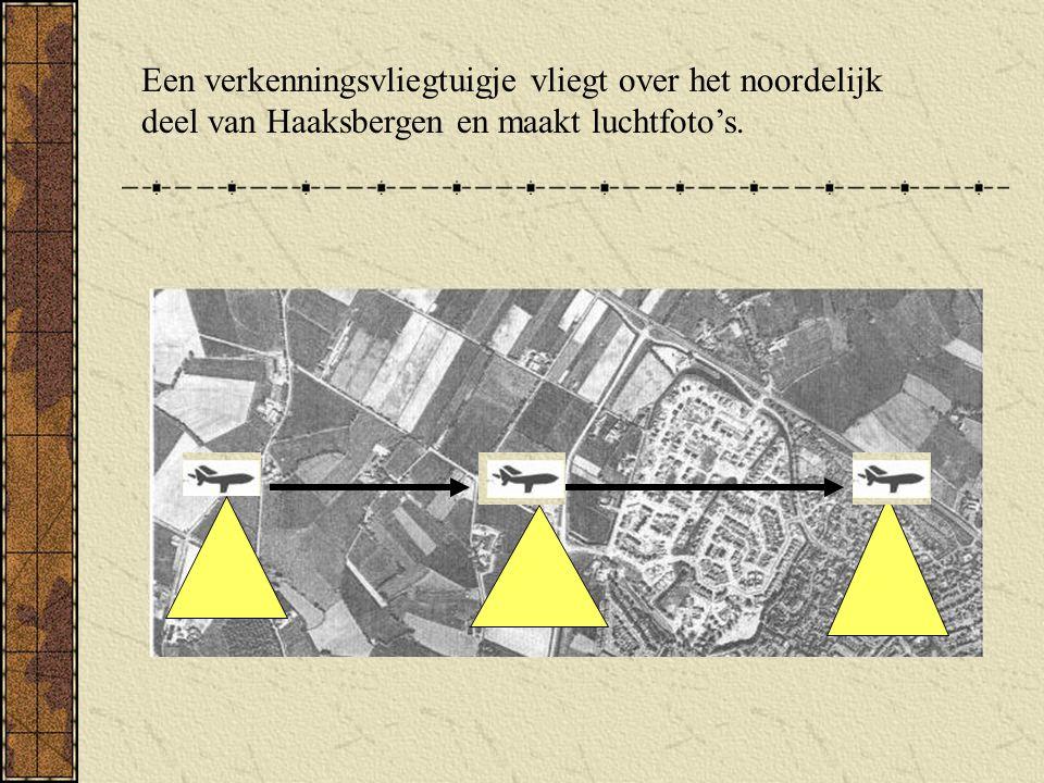 Een verkenningsvliegtuigje vliegt over het noordelijk deel van Haaksbergen en maakt luchtfoto's.