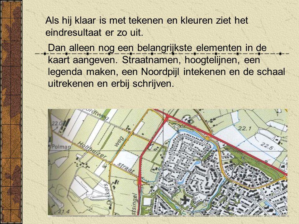 Opdracht: Maak met behulp van een luchtfoto van je eigen woonomgeving een kaart van de route die je naar school fietst of loopt.