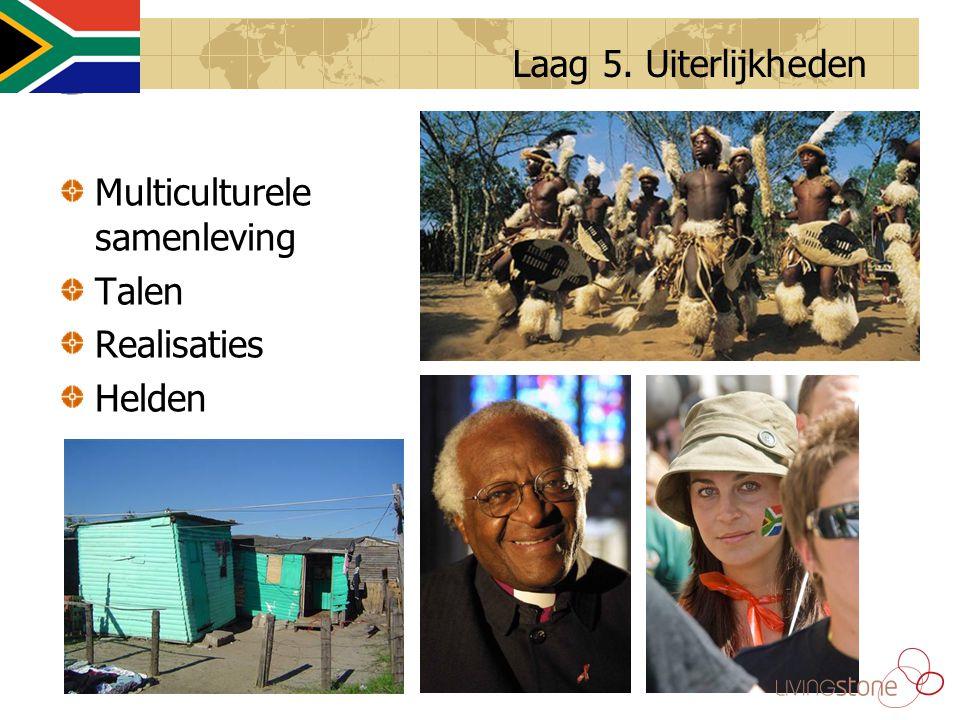 Multiculturele samenleving Talen Realisaties Helden Laag 5. Uiterlijkheden