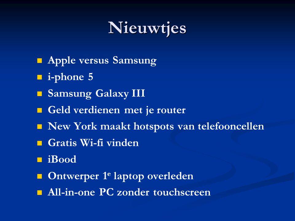 Apple versus Samsung Apple en Samsung blijven elkaar met rechtszaken bestormen en met wisselend succes.