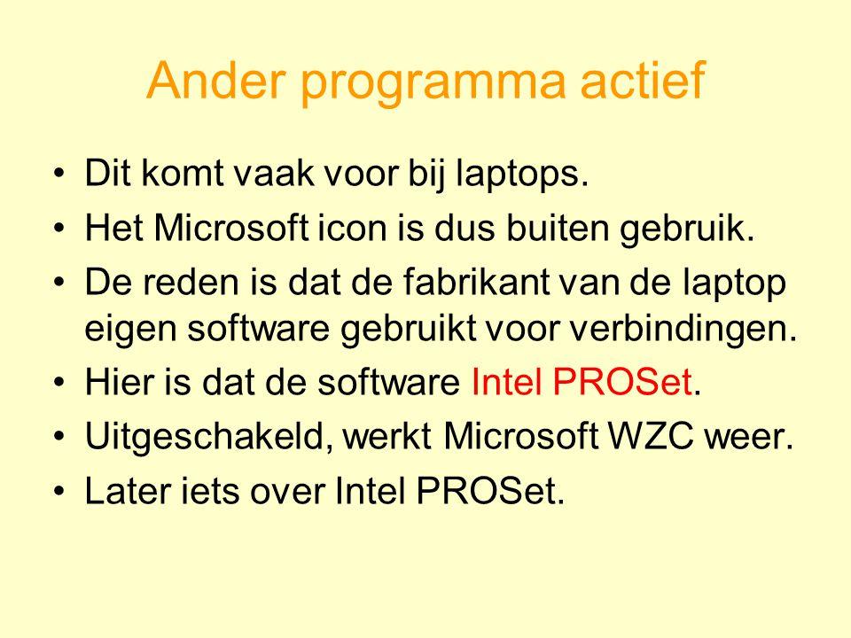 Dit komt vaak voor bij laptops. Het Microsoft icon is dus buiten gebruik.