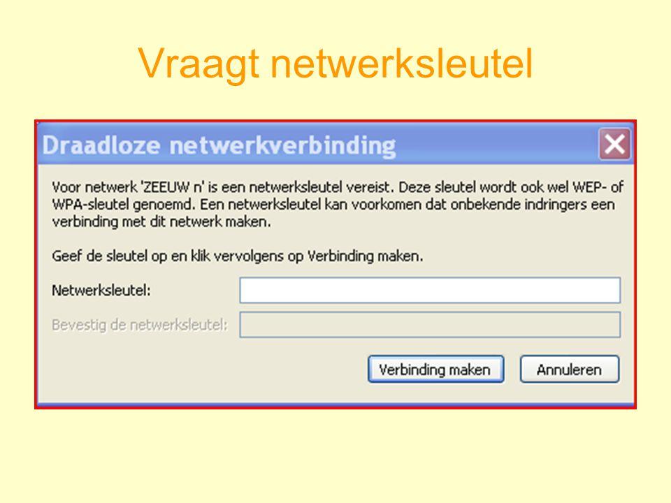 Vraagt netwerksleutel