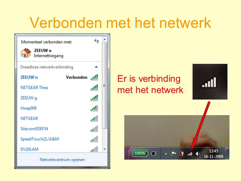 Verbonden met het netwerk Er is verbinding met het netwerk