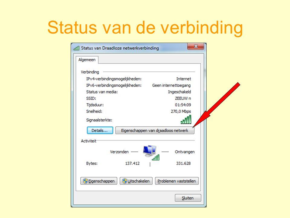 Status van de verbinding
