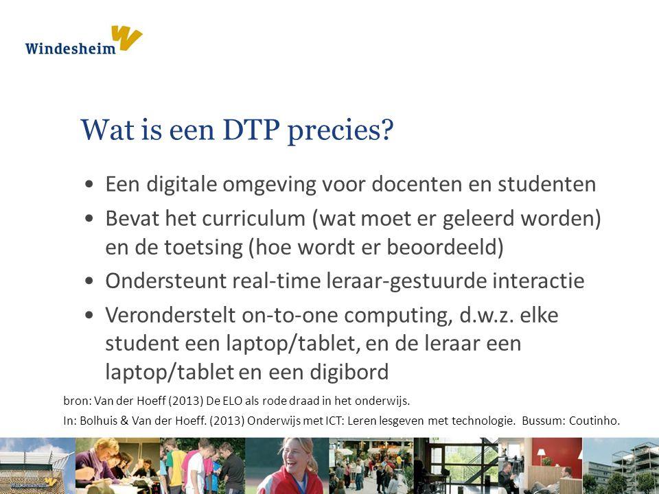 Wat is een DTP precies.