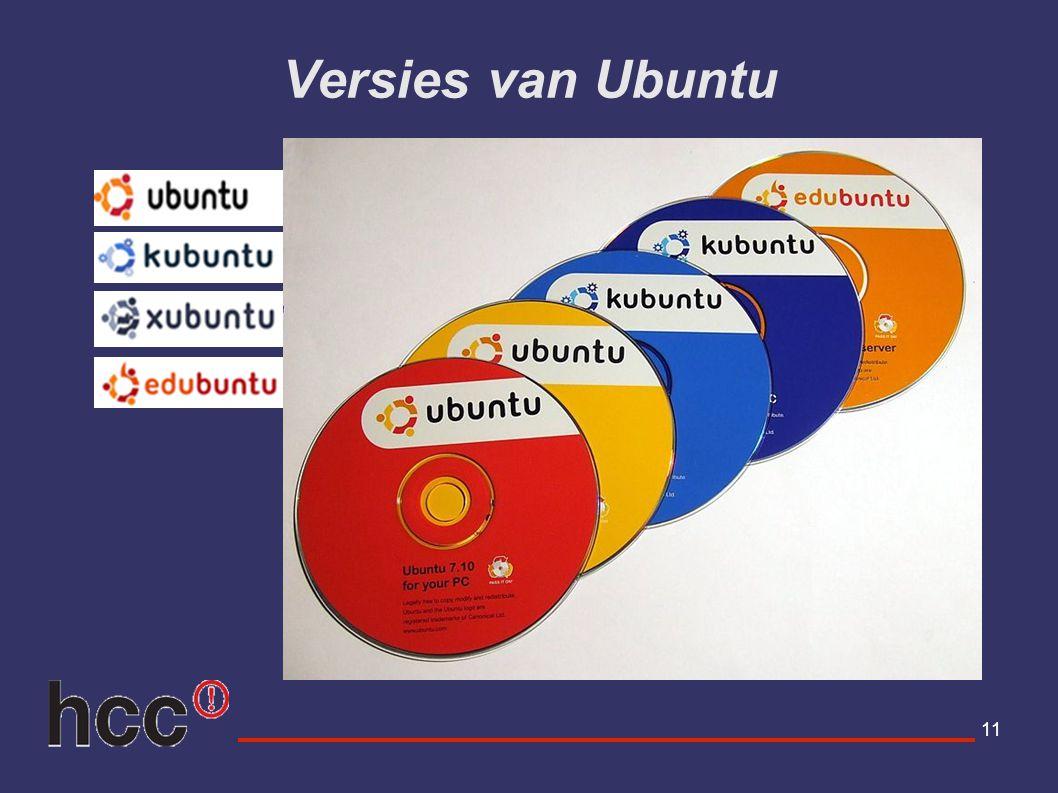 11 Versies van Ubuntu