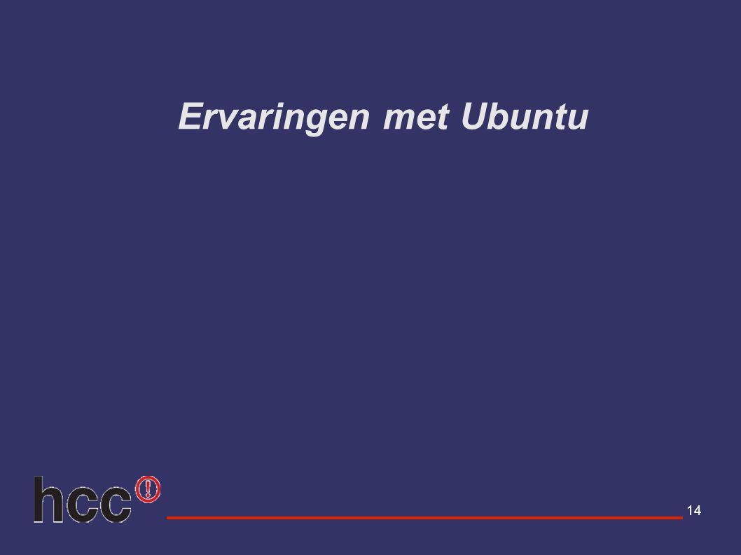 14 Ervaringen met Ubuntu