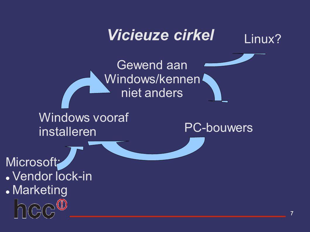 18 Werken met Ubuntu Indeling desktop Programma s Software installeren en verwijderen Verbinding met Internet Windows programma s onder linux