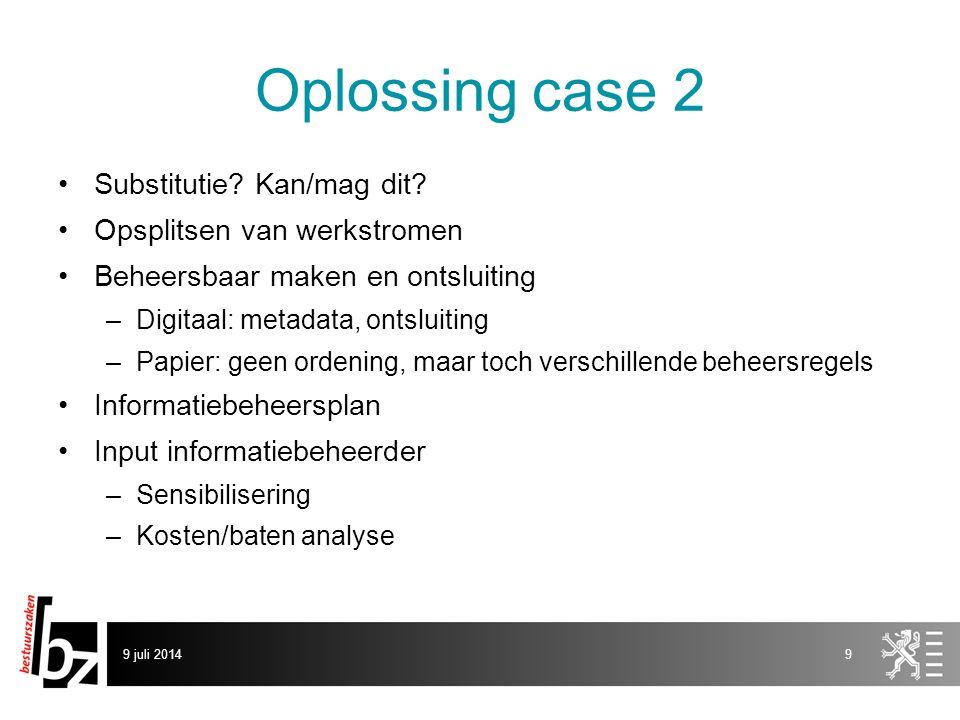 Oplossing case 2 Substitutie. Kan/mag dit.
