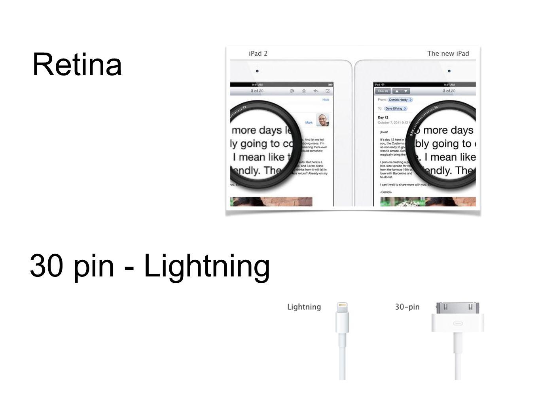 Retina 30 pin - Lightning