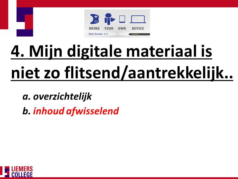 4. Mijn digitale materiaal is niet zo flitsend/aantrekkelijk..