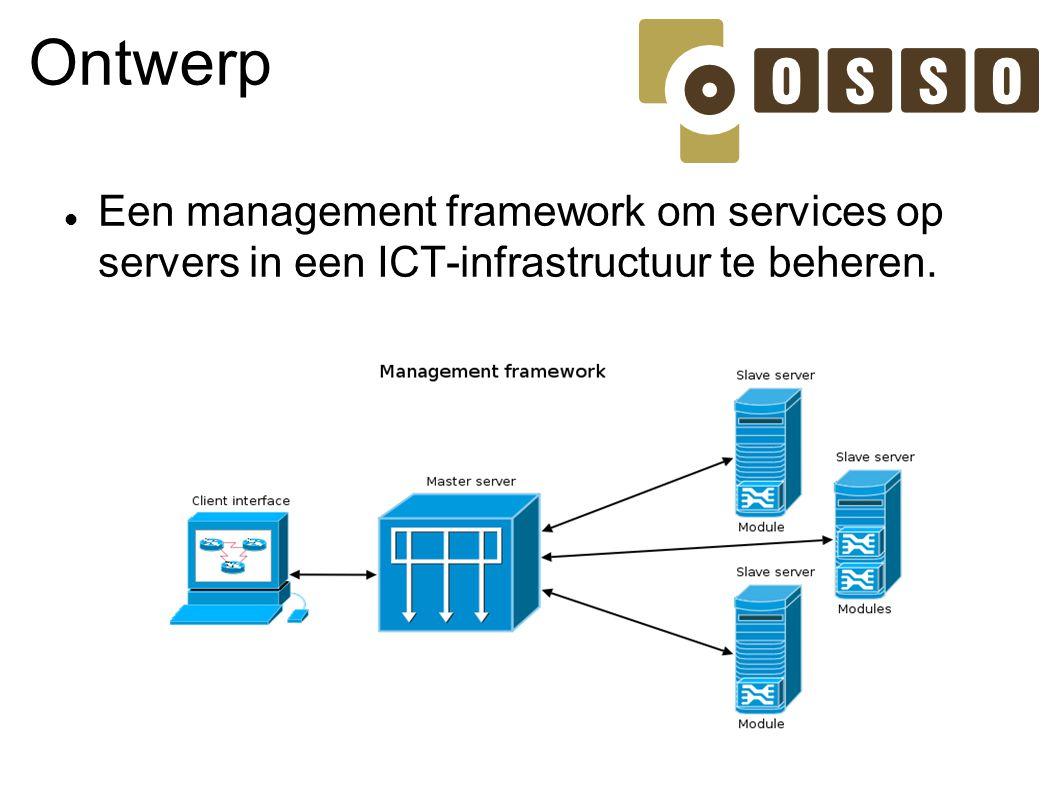 Ontwerp Een management framework om services op servers in een ICT-infrastructuur te beheren.