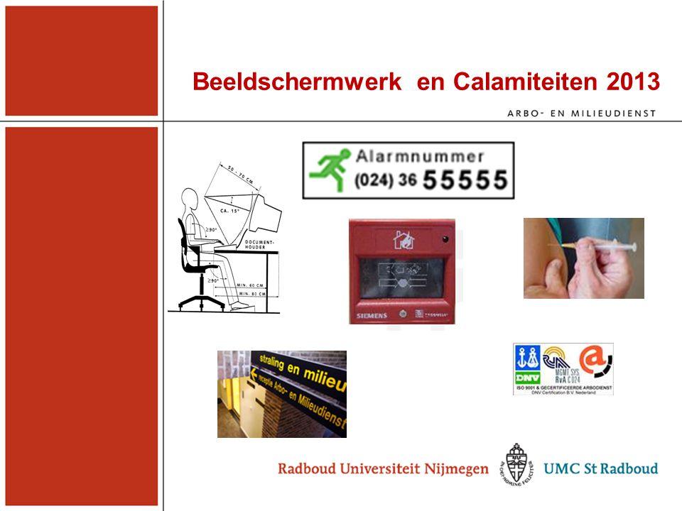 Beeldschermwerk en Calamiteiten 2013