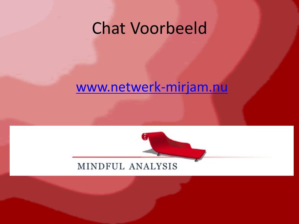 Chat Voorbeeld www.netwerk-mirjam.nu