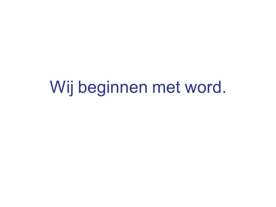 De nieuwe word herkent welke soort van brief u schrijft.