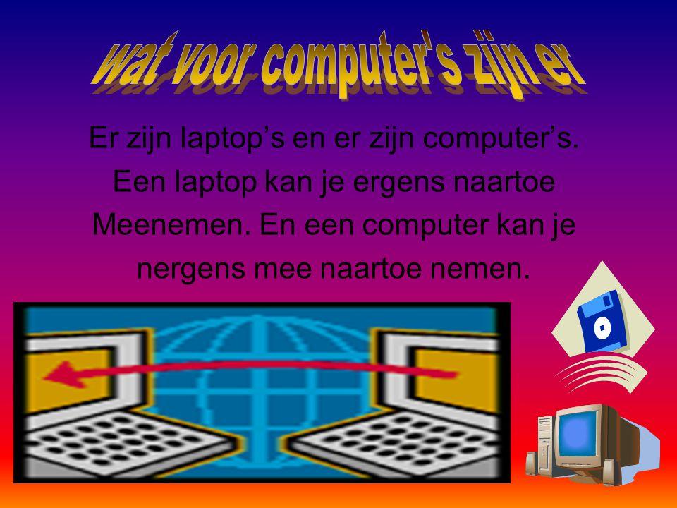 Een computer over een computer.