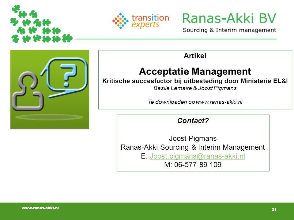 21 www.ranas-akki.nl 21 Contact.