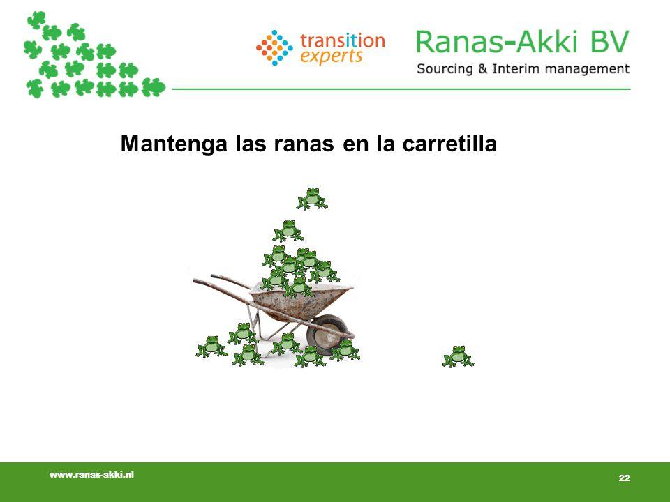 22 www.ranas-akki.nl Mantenga las ranas en la carretilla 22