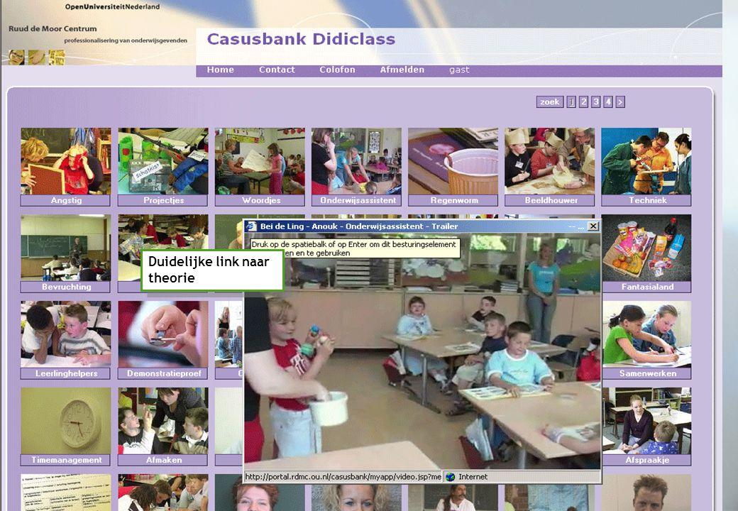 Onderzoek I Reviews I Casusbank Didiclass Duidelijke link naar theorie