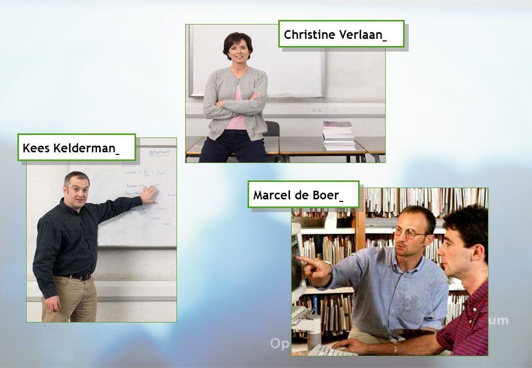 Kees Kelderman Christine Verlaan Marcel de Boer