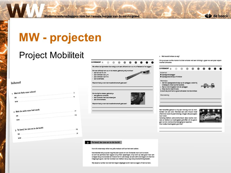Project Mobiliteit MW - projecten