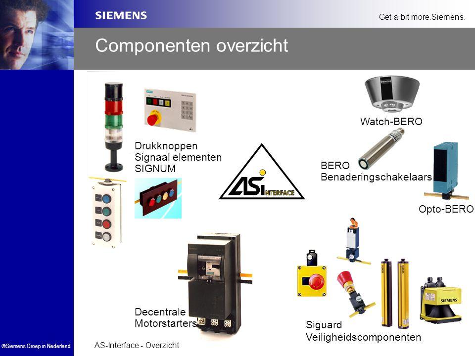 AS-Interface - Overzicht  Siemens Groep in Nederland Get a bit more.Siemens. Componenten overzicht Drukknoppen Signaal elementen SIGNUM Decentrale Mo