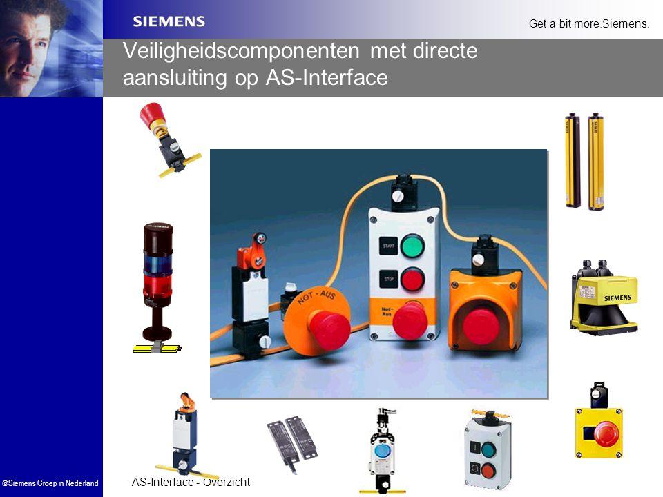 AS-Interface - Overzicht  Siemens Groep in Nederland Get a bit more.Siemens. Veiligheidscomponenten met directe aansluiting op AS-Interface