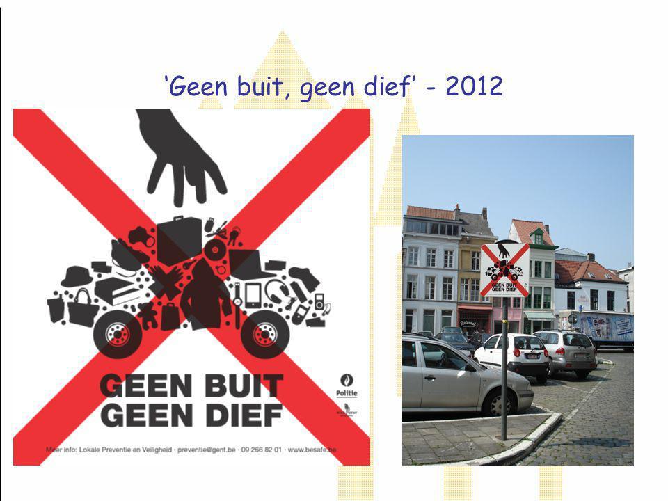 'Geen buit, geen dief' - 2012