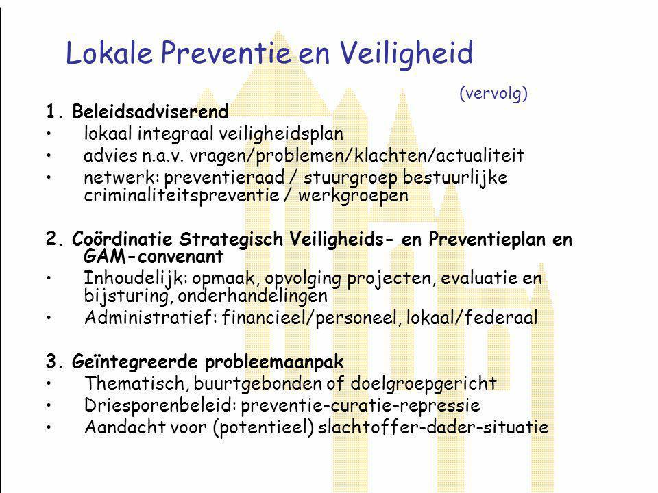 Lokale Preventie en Veiligheid (vervolg) 1.