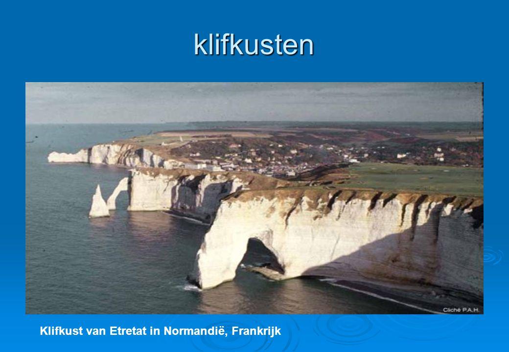 klifkusten Klifkust van Etretat in Normandië, Frankrijk