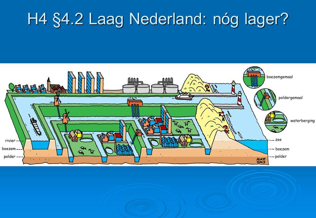 H4 §4.2 Laag Nederland: nóg lager?
