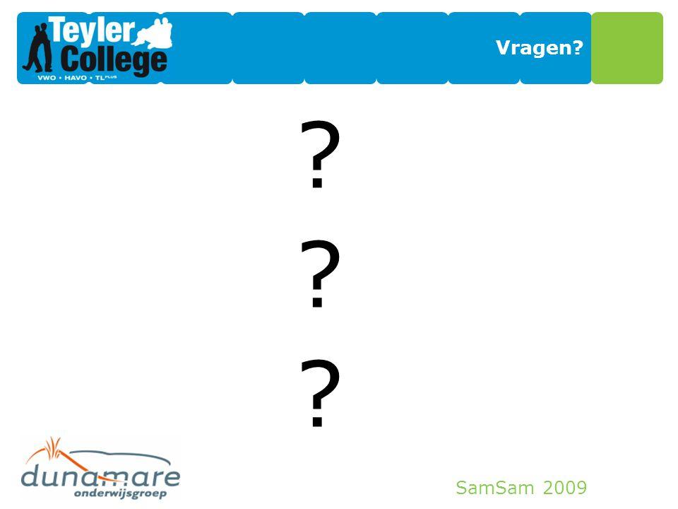SamSam 2009 Vragen? ??????