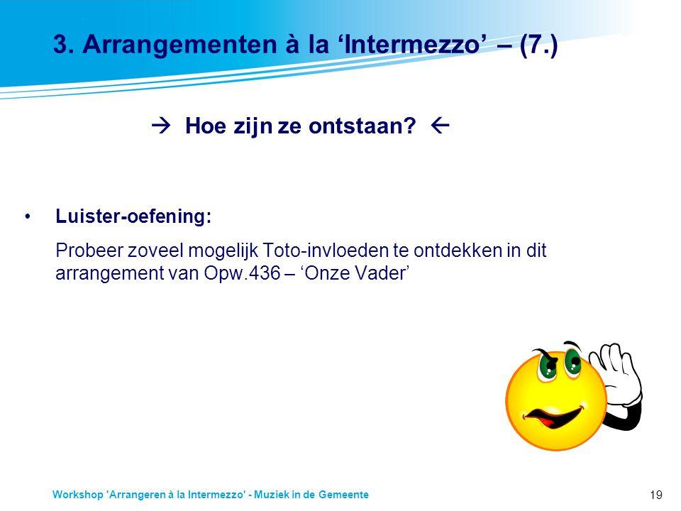 19 Workshop Arrangeren à la Intermezzo - Muziek in de Gemeente 3.
