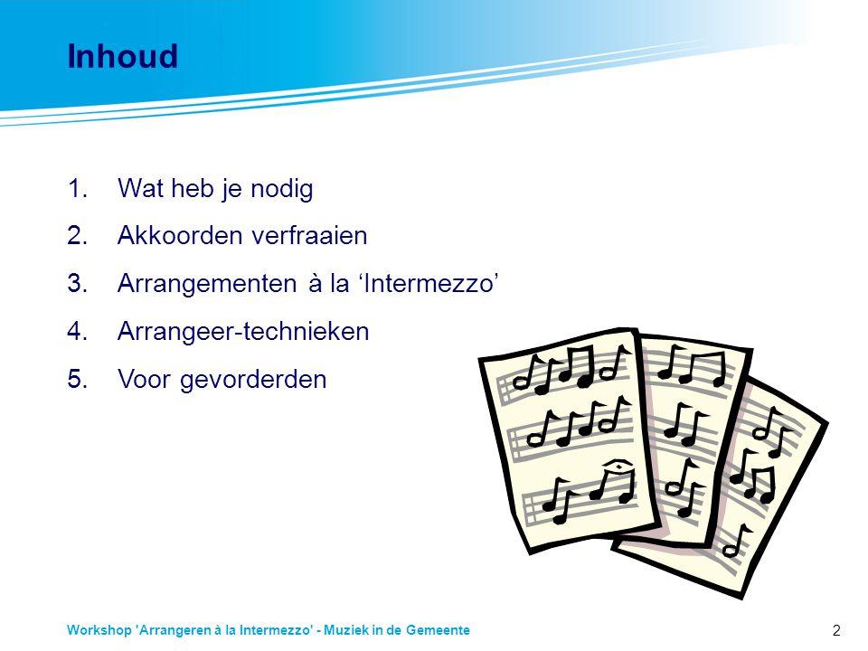 3 Workshop Arrangeren à la Intermezzo - Muziek in de Gemeente 1.