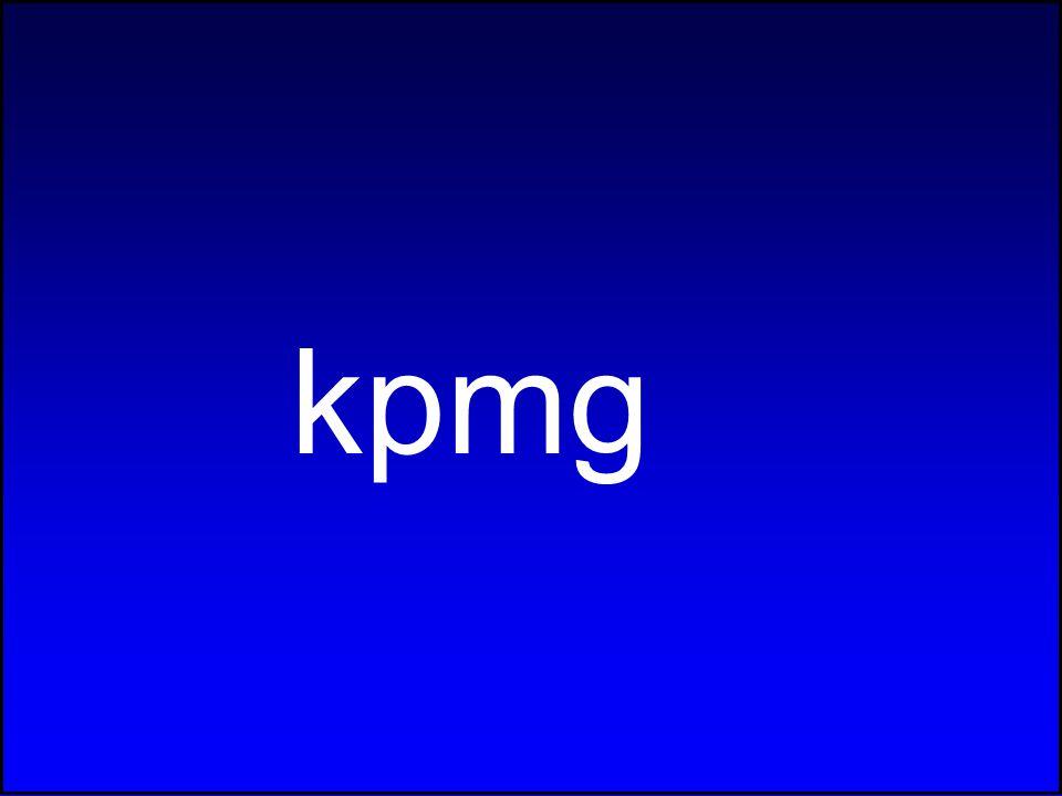 kpmg 32 © 2003 KPMG Deel I: Analyse van de hervorming B.