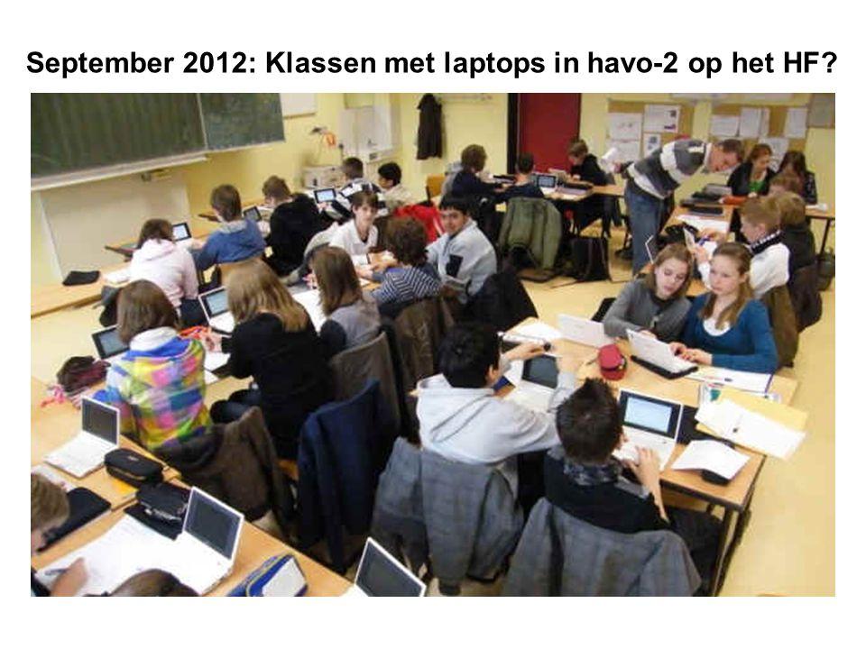 September 2012: Klassen met laptops in havo-2 op het HF