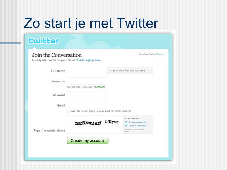 Zo start je met Twitter