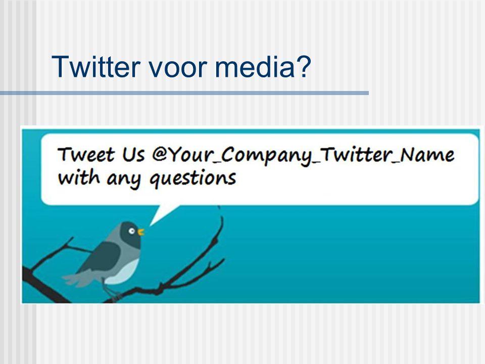 Twitter voor media?