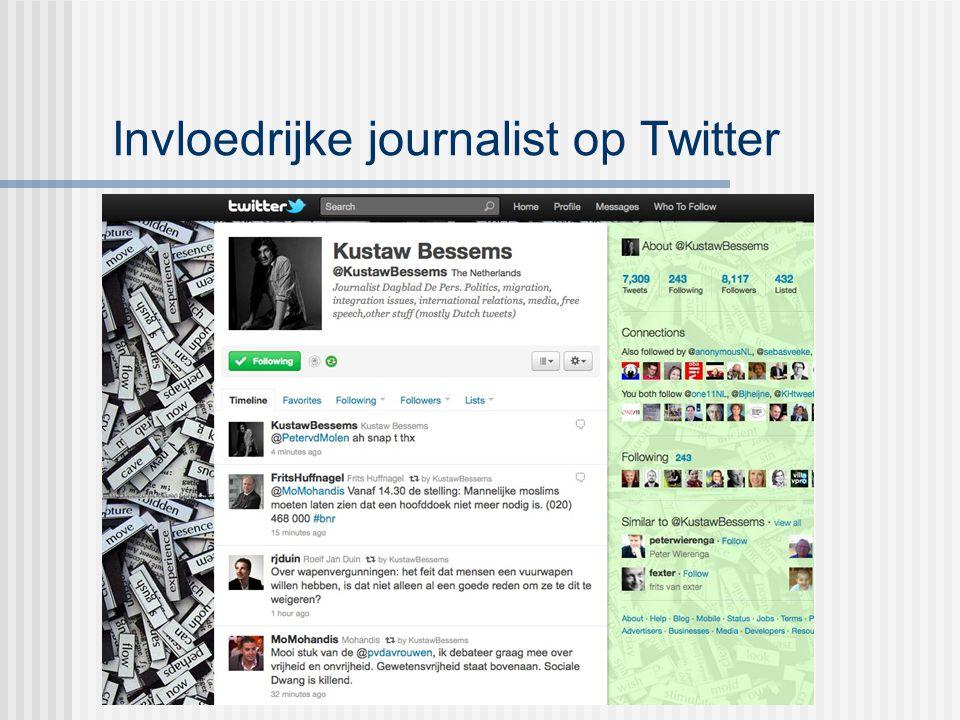 Invloedrijke journalist op Twitter