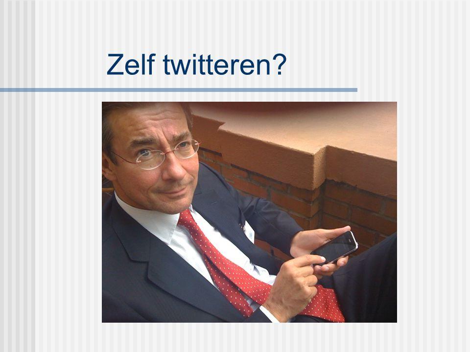Zelf twitteren?