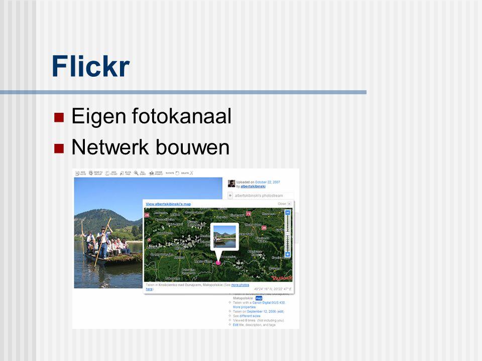 Flickr Eigen fotokanaal Netwerk bouwen