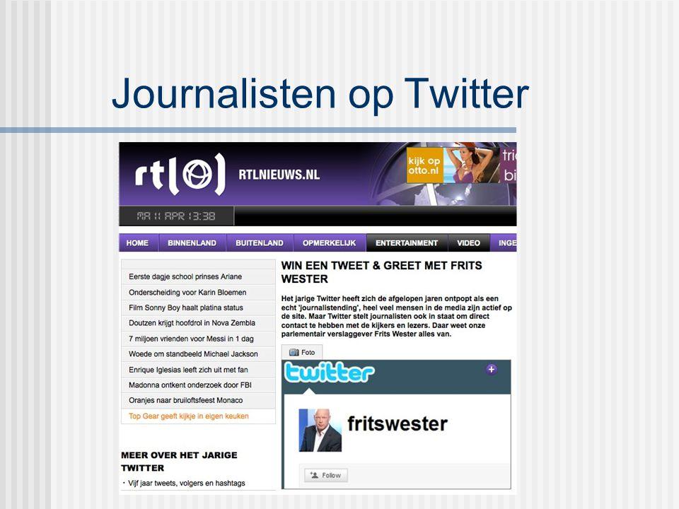 Journalisten op Twitter