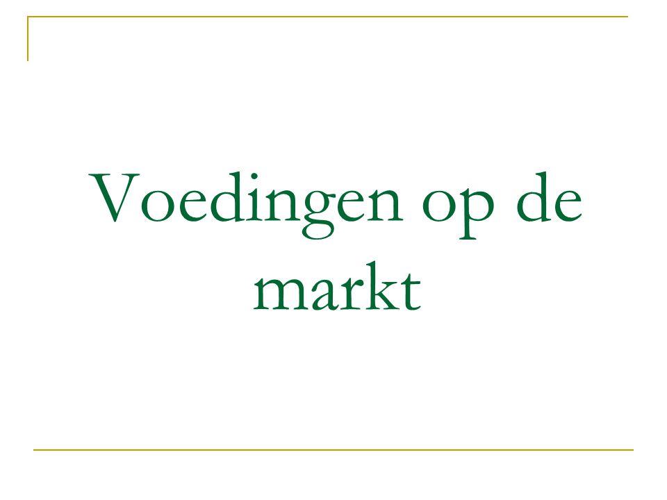Voedingen op de markt