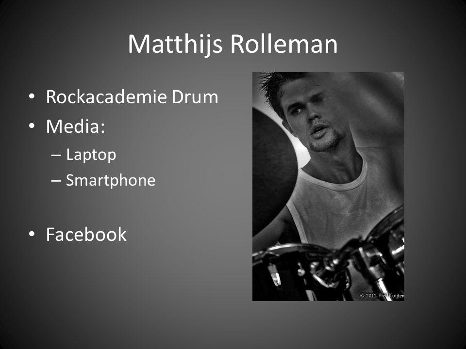 Sasha Rangas Rockacademie Music Production Media: – Tv – Smartphone – Laptop Facebook, Twitter, Instagram, YouTube