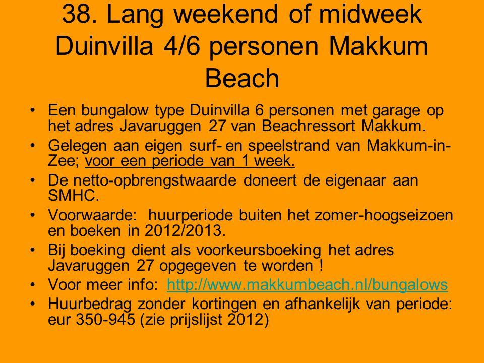 38. Lang weekend of midweek Duinvilla 4/6 personen Makkum Beach Een bungalow type Duinvilla 6 personen met garage op het adres Javaruggen 27 van Beach